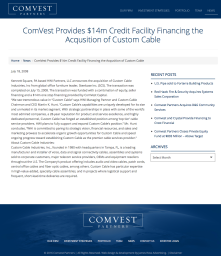 ComVest $14mm debt