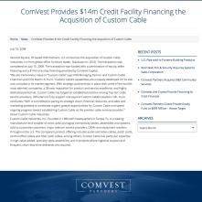 ComVest $14mm debt
